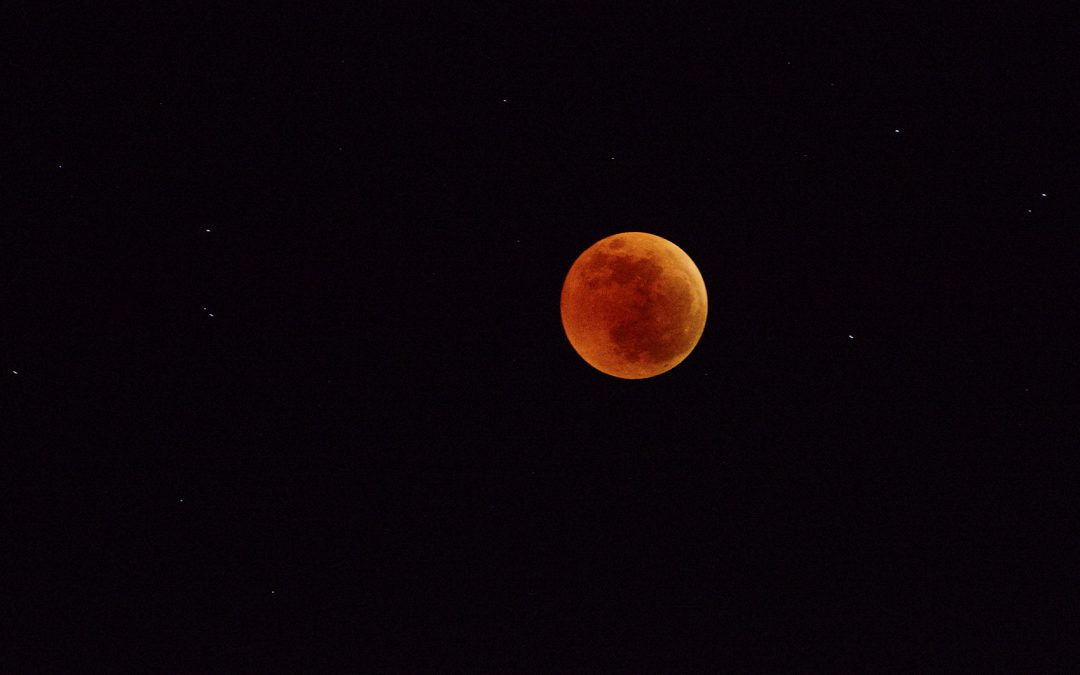Blood Moon over the Indian Ocean